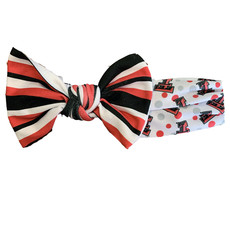 College Print Bowtie Headband 0-6 Month