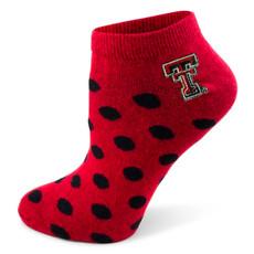 Polka Dot No Show Socks 9-11