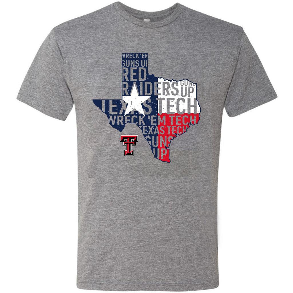 Slogan Texas Flag Short Sleeve Tee