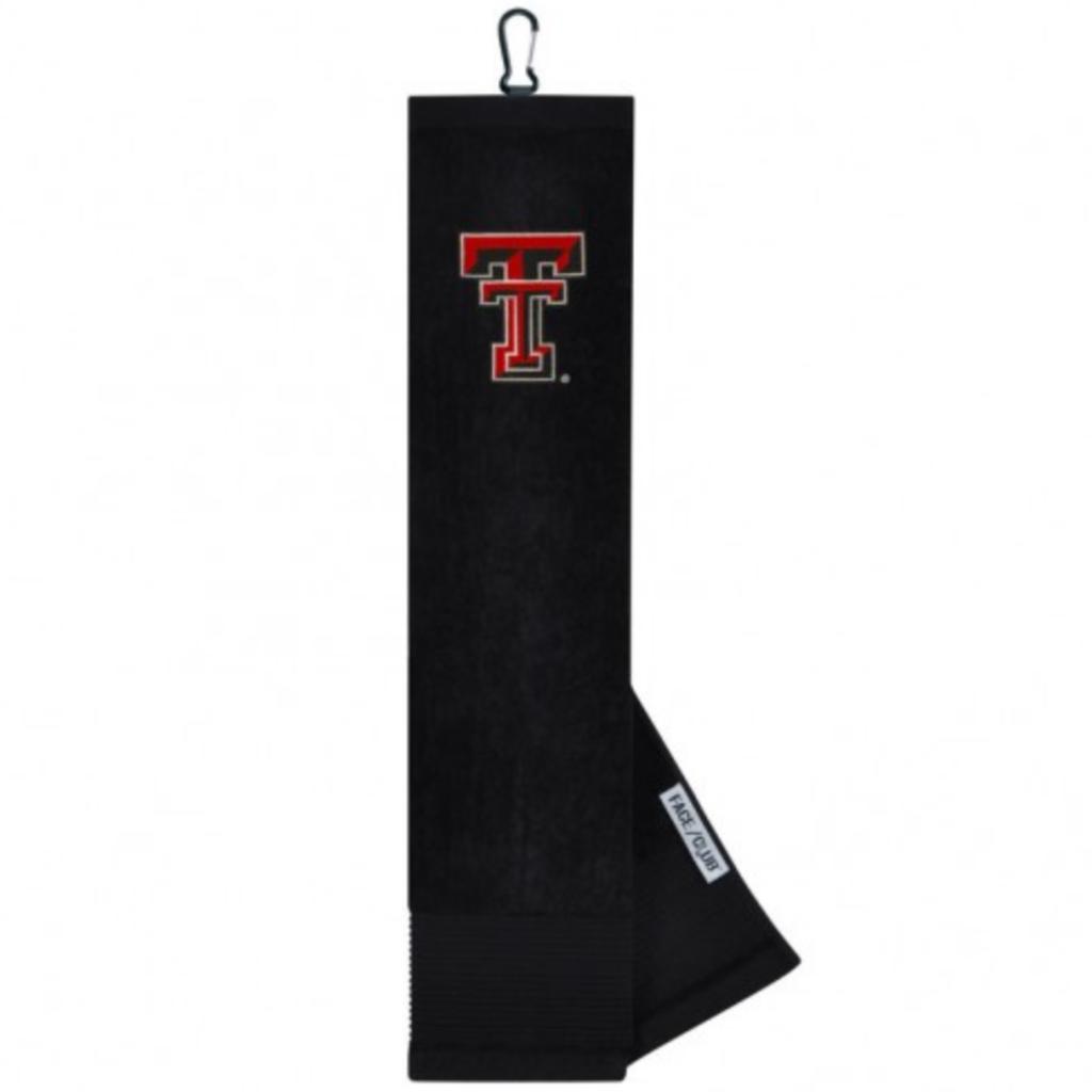 Black Embroidered Golf Towel