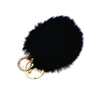 Pom Pom Keychain Black