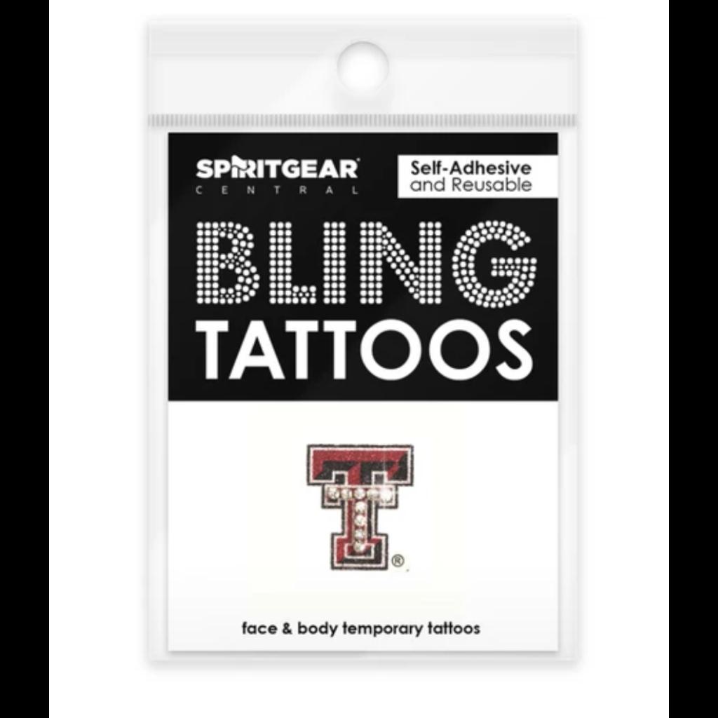 Rhinestone Double T Tattoo