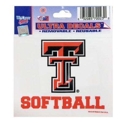 3X4 Texas Tech Softball Decal