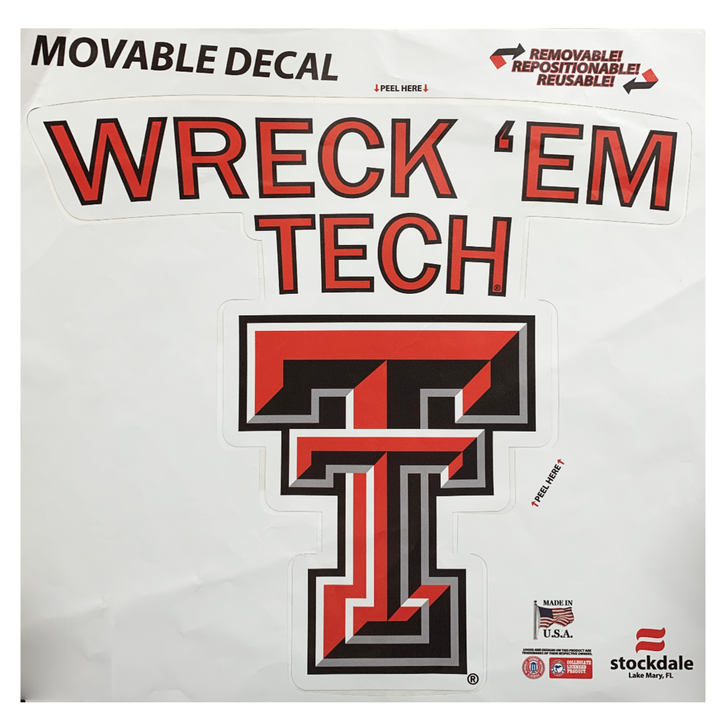 Wreck'Em Tech Movable Decal 12""