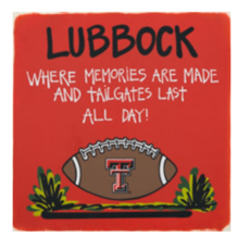 Lubbock Tailgate Sign 15x15