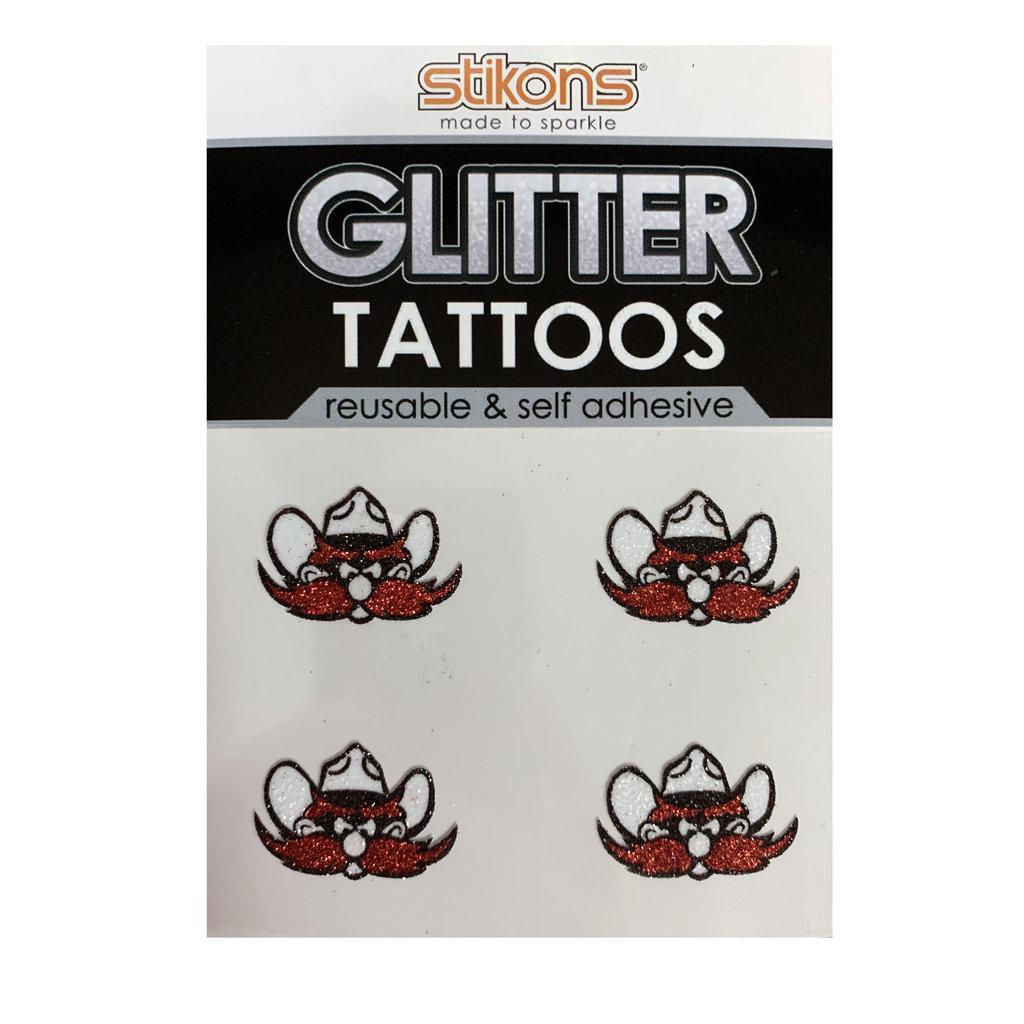 Glitter Raider Red Tattoo 4 Pack