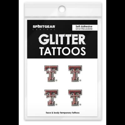 Glitter Double T Tattoo 4 Pack