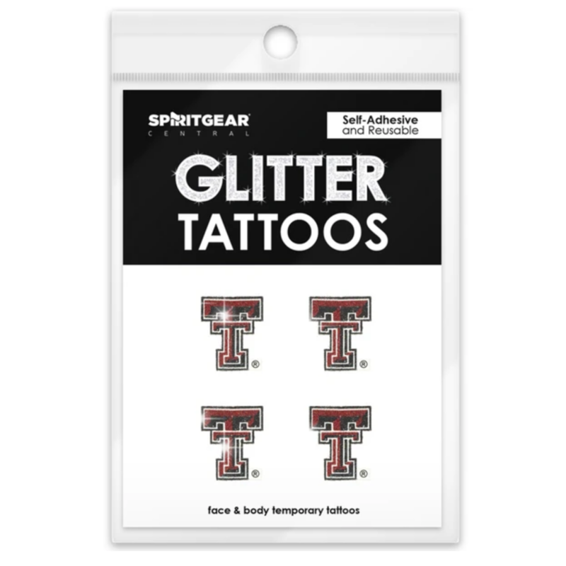 Glitter Double T Tattoo 4 Pack