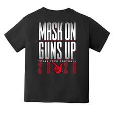 Wreck Em Masks On Guns Up Youth Short Sleeve Tee