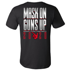 Wreck Em Masks On Guns Up Short Sleeve Tee