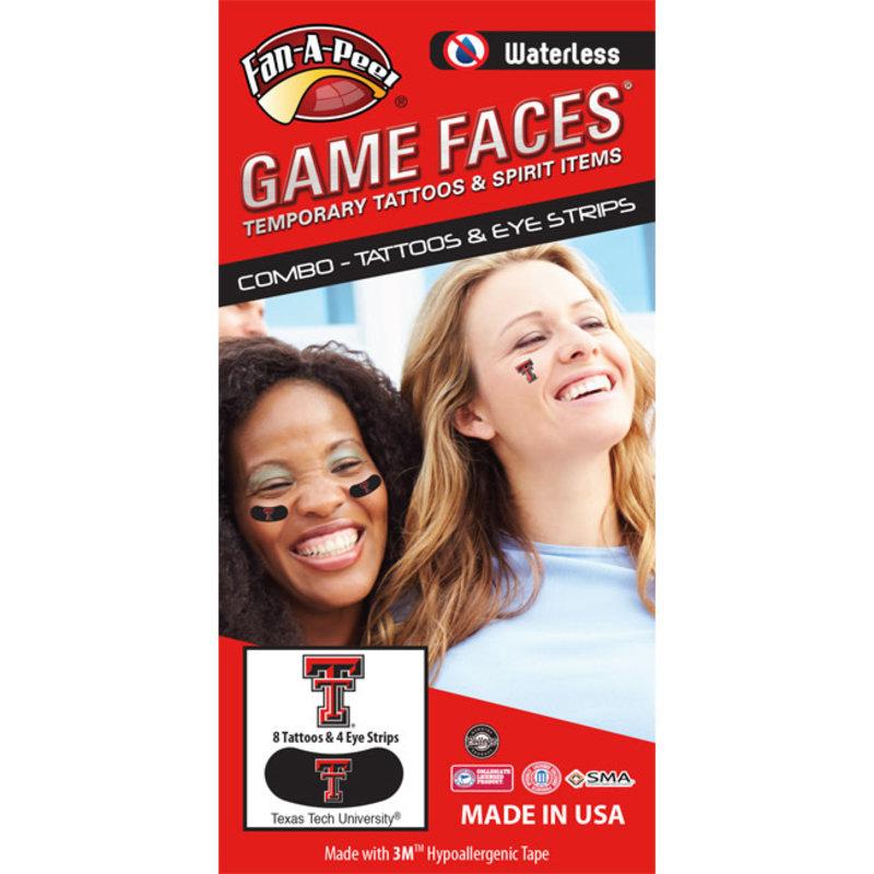 Game Face Assortment Tattoo Pack