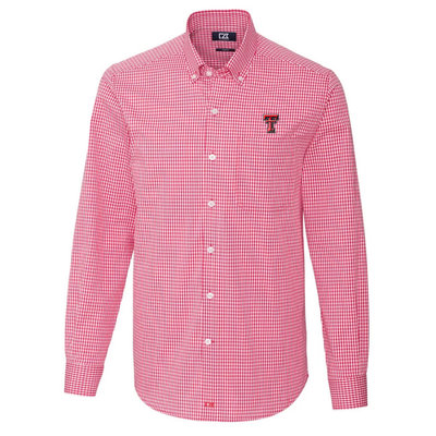 Cutter Buck Stretch Gingham Button Down