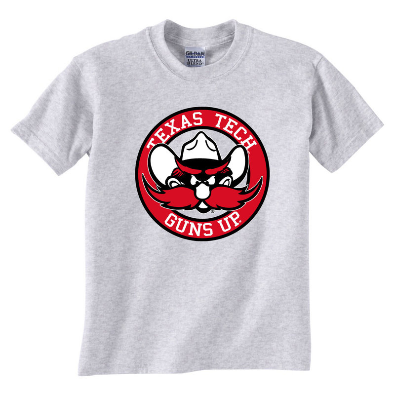 Raider Red Circle Short Sleeve Youth Tee