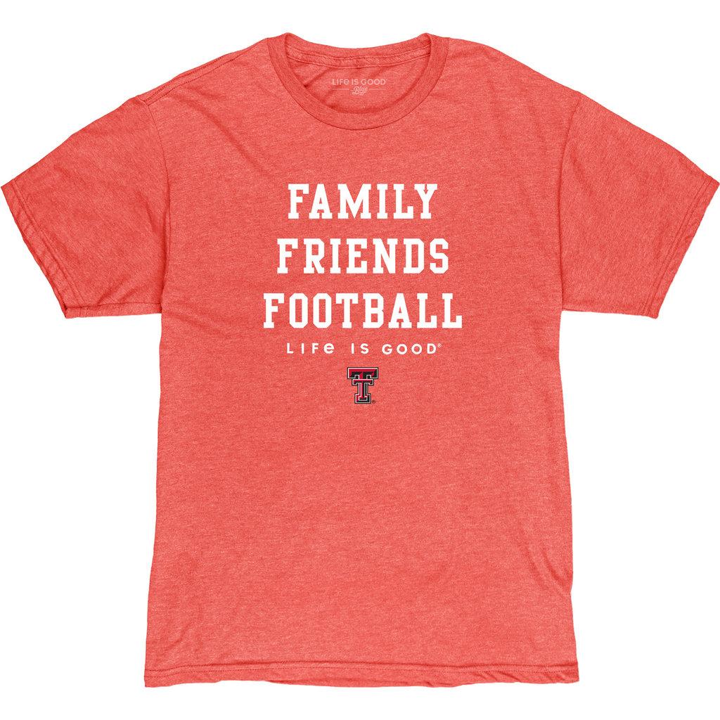 Life Is Good Life is Good Family, Friends, Football Short Sleeve Tee