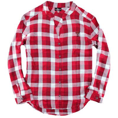 Ladies Plaid Featherlite Button Down Shirt