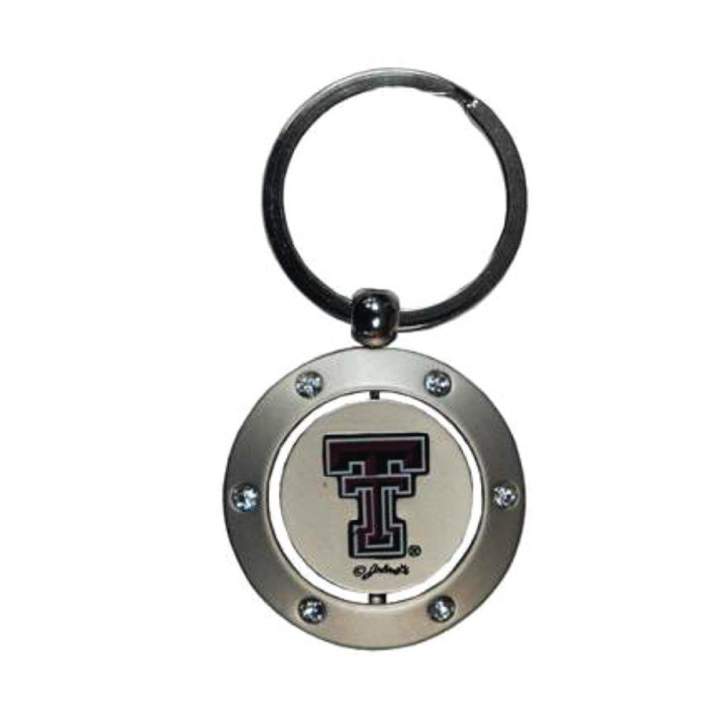 Gold Spinner Rhinestone Keychain