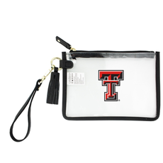 Clear Wristlet with Tassle