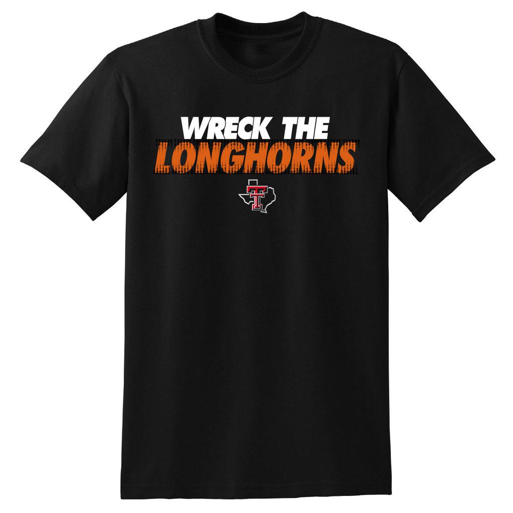 Wreck The Longhorns Toilet Paper Short Sleeve Tee