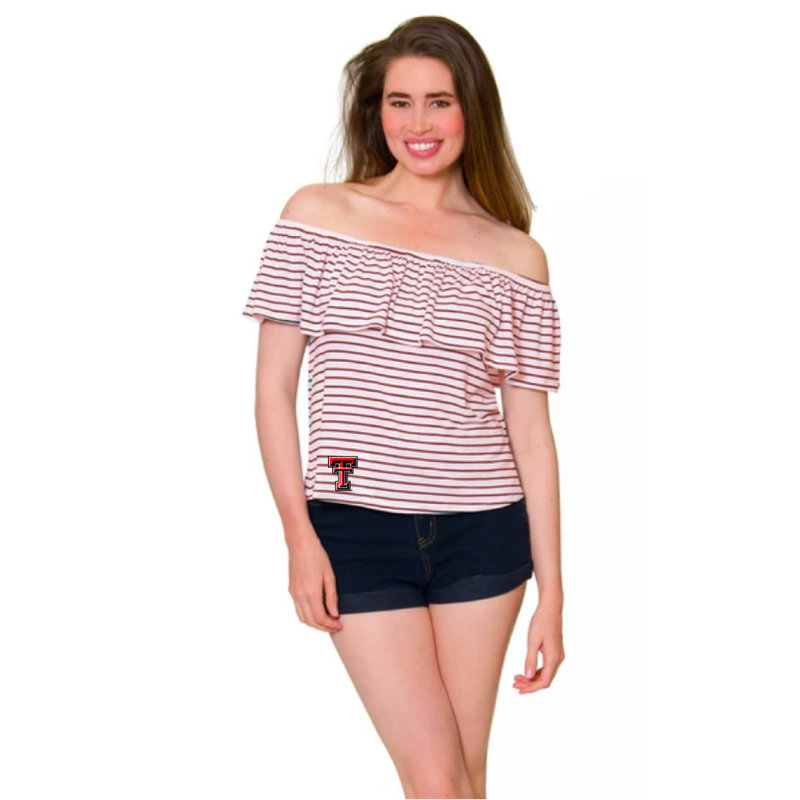 Ryan Striped Peasant Off the Shoulder Top