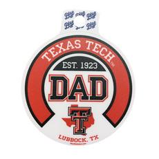 Dad Round Lonestar Pride Sticker
