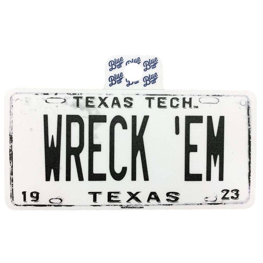 Wreck em License Plate Sticker