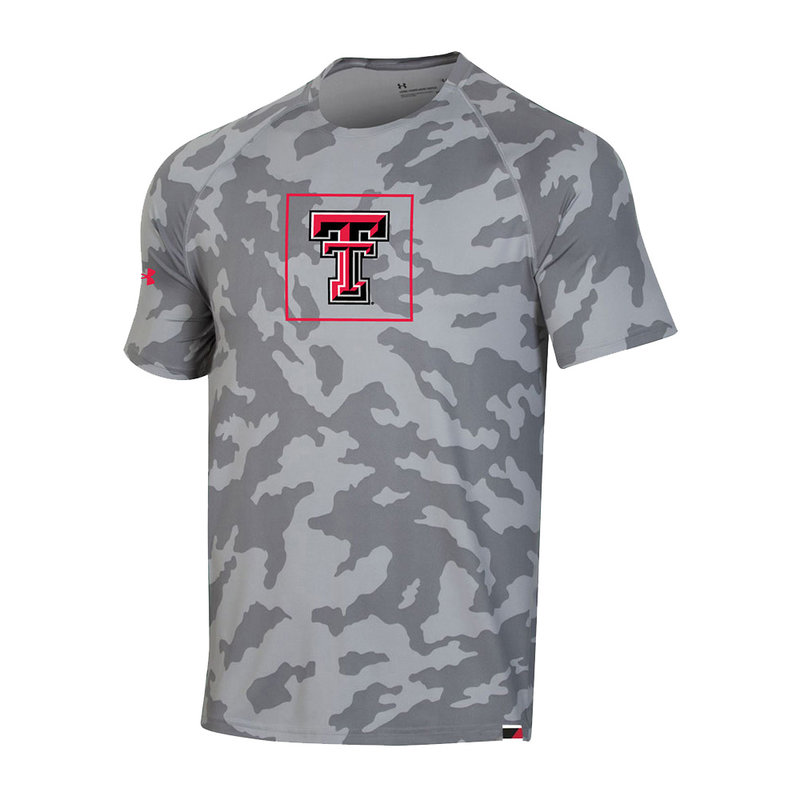 Under Armour Grey Camo Short Sleeve Training Tee