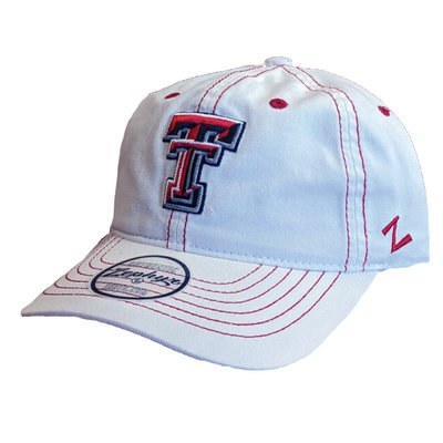 Zephyr Irving White/Red Stitch Cap