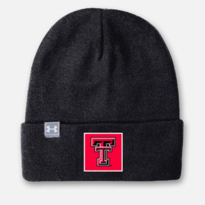 Under Armour Truckstop Square Patch Black Beanie
