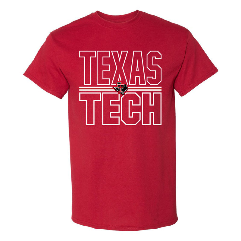 Lonestar Stacked Texas Tech Short Sleeve Tee