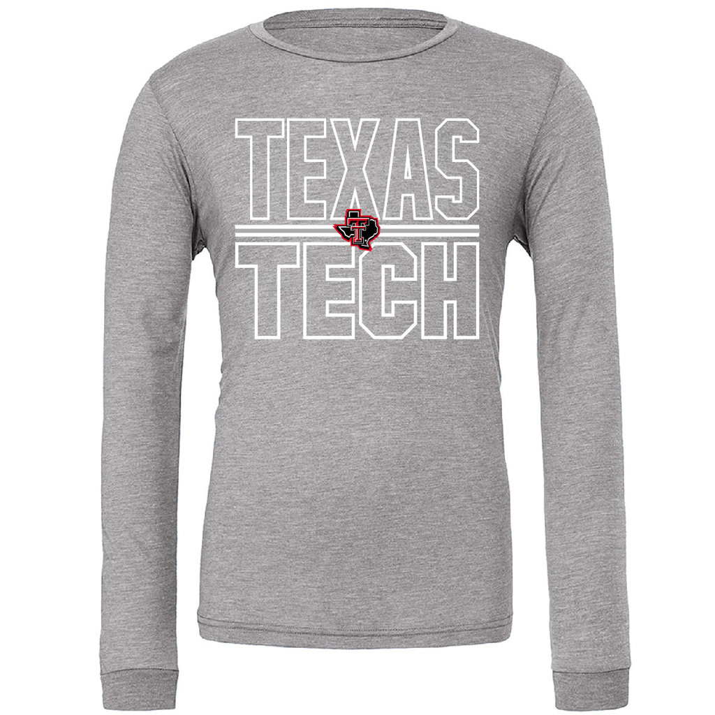Lonestar Stacked Texas Tech Long Sleeve Tee