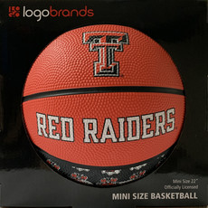 Repeating Logo Mini Size Rubber Basketball