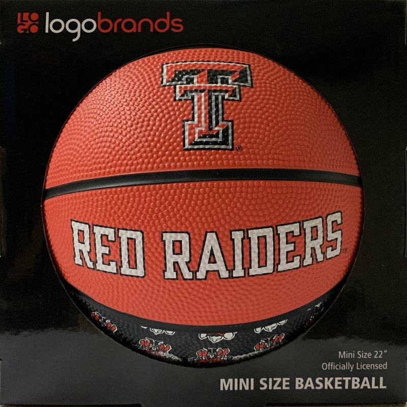Repeating Logo Mini Size Rubber Basketball