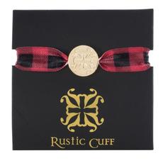 Rustic Cuff Mary Lou Plaid Red/Black Hair Tie