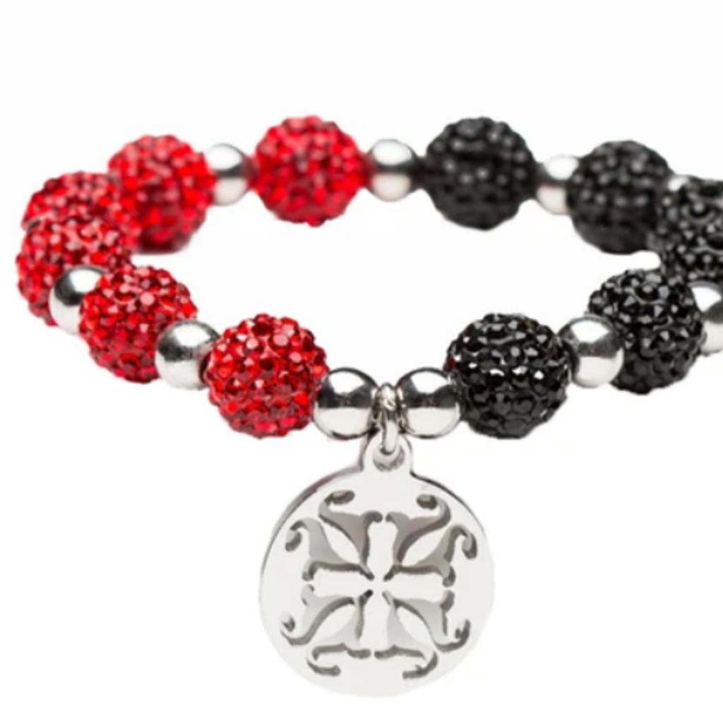Rustic Cuff Kaleidoscope Crystal Bead Bracelet