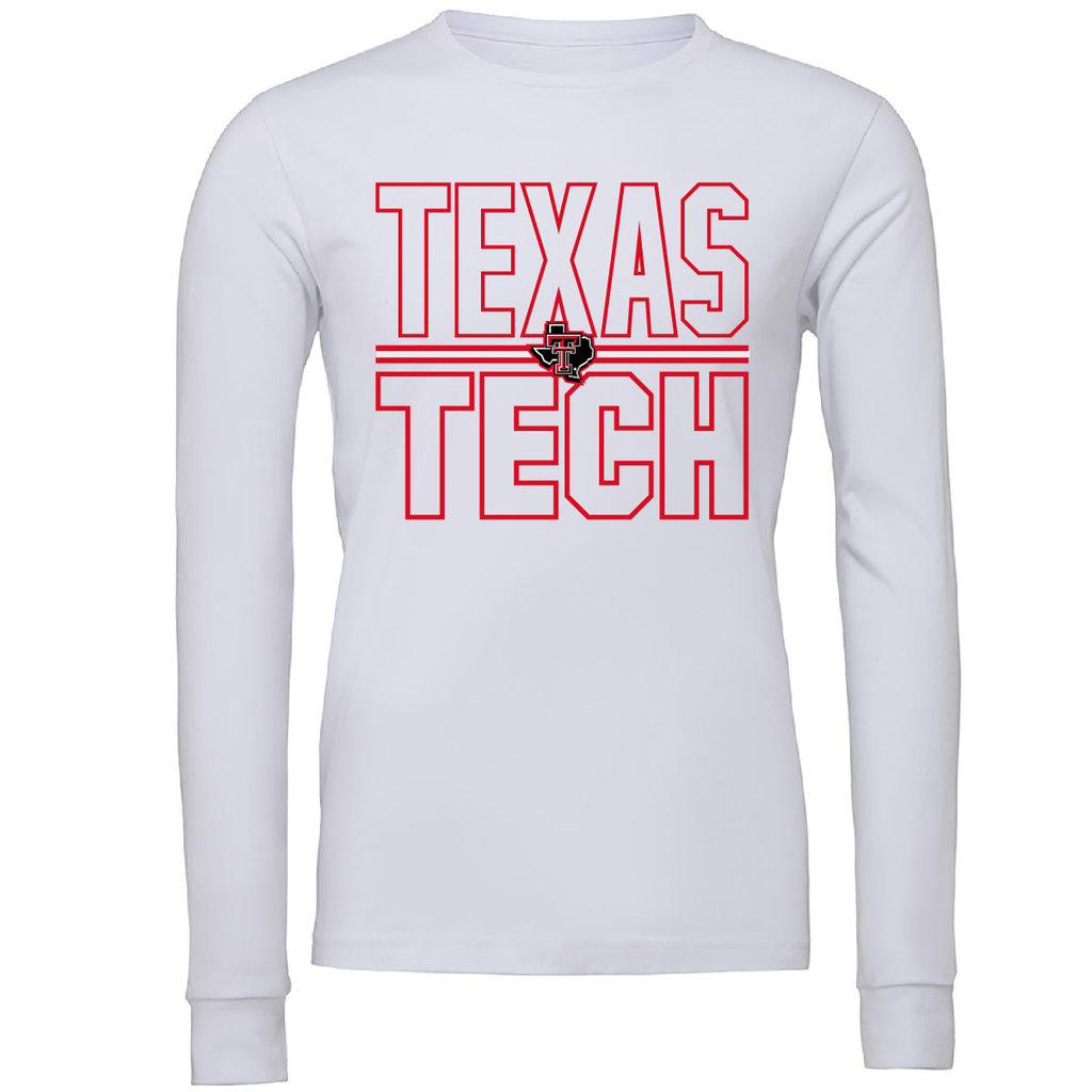 Lonestar Stacked Texas Tech Long Sleeve Tee