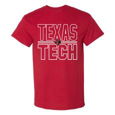 Lonestar Stacked Texas Tech Short Sleeve Tee