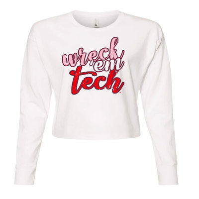 Wreck Em Stack Long Sleeve Crop Tee