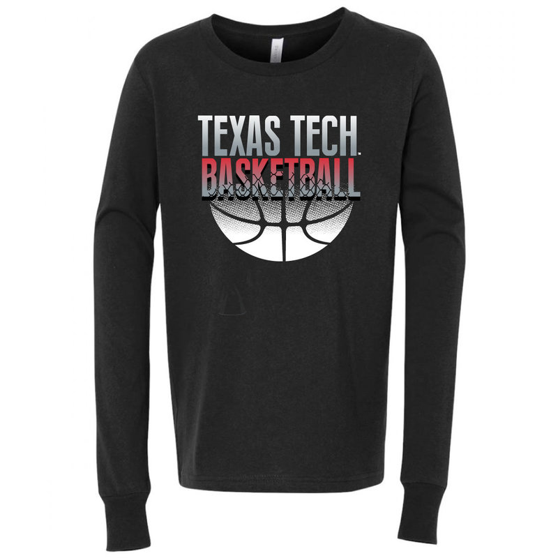 Youth Basketball Grey Shade Long Sleeve Tee