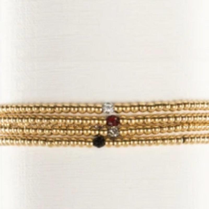 Rustic Cuff Ireland Petite Bead Bracelet - Multiple  Color Options