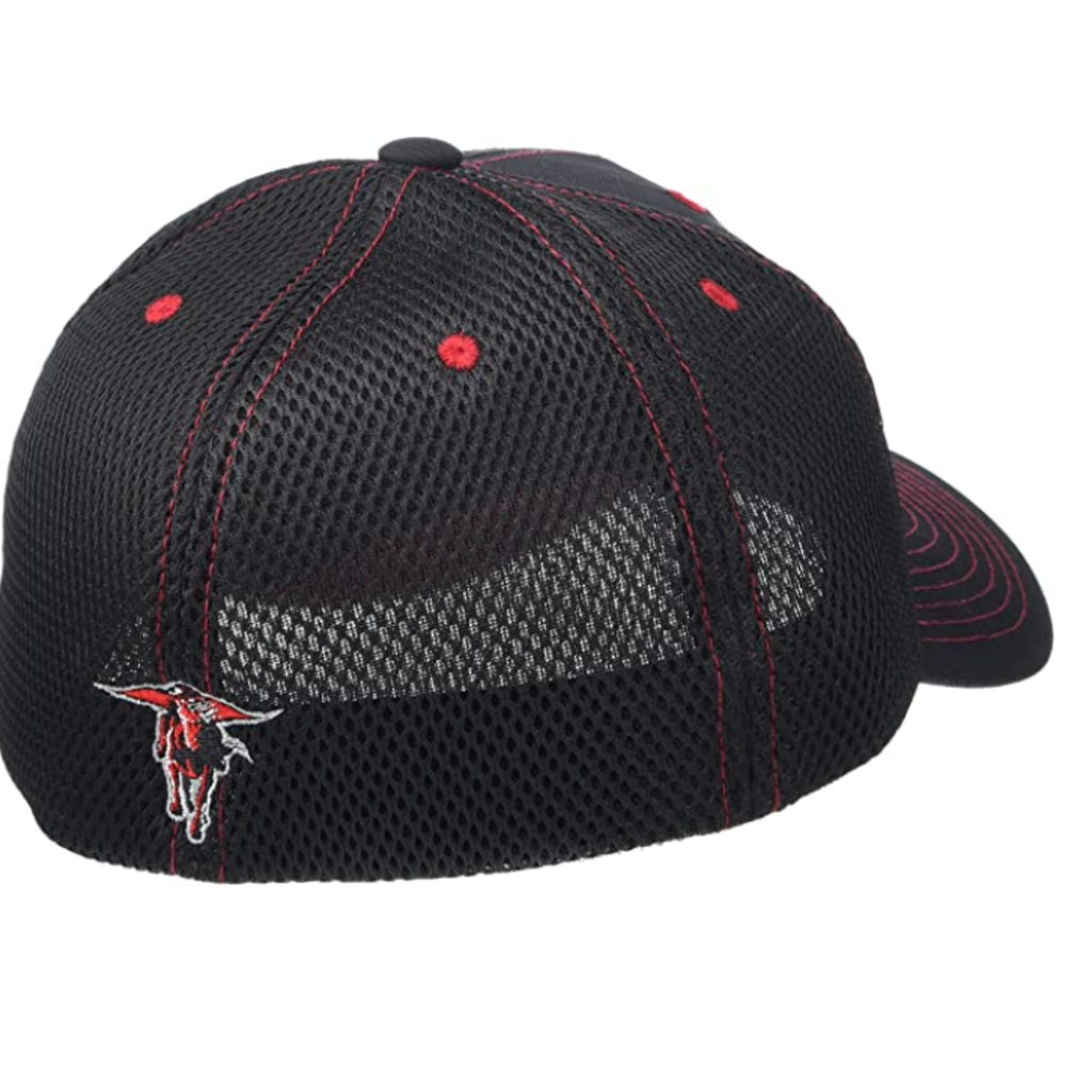 Zephyr Oakland Black with Red Stitch & Mesh Cap