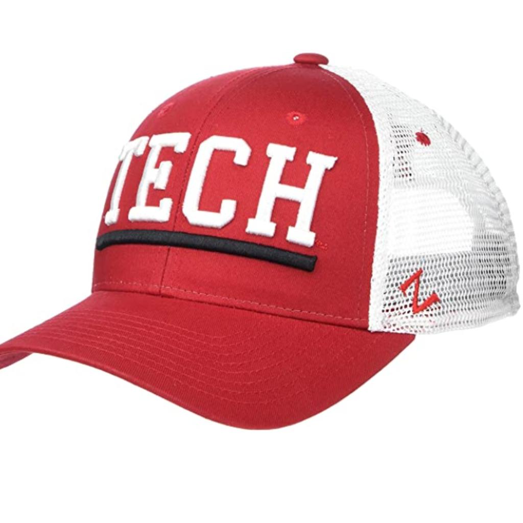 Zephyr Upfront Red & White TECH Mesh Cap