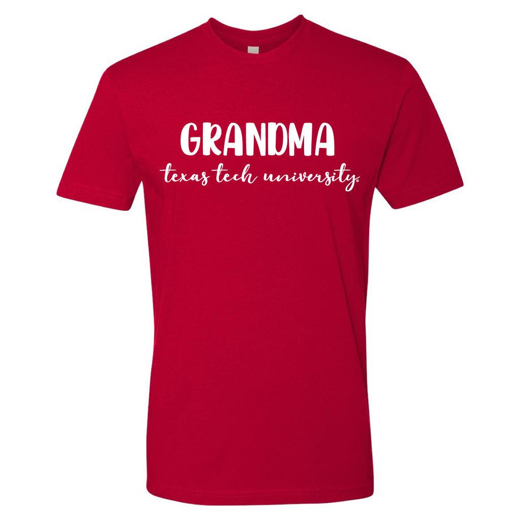 Grandma Texas Tech Cursive Short Sleeve Tee