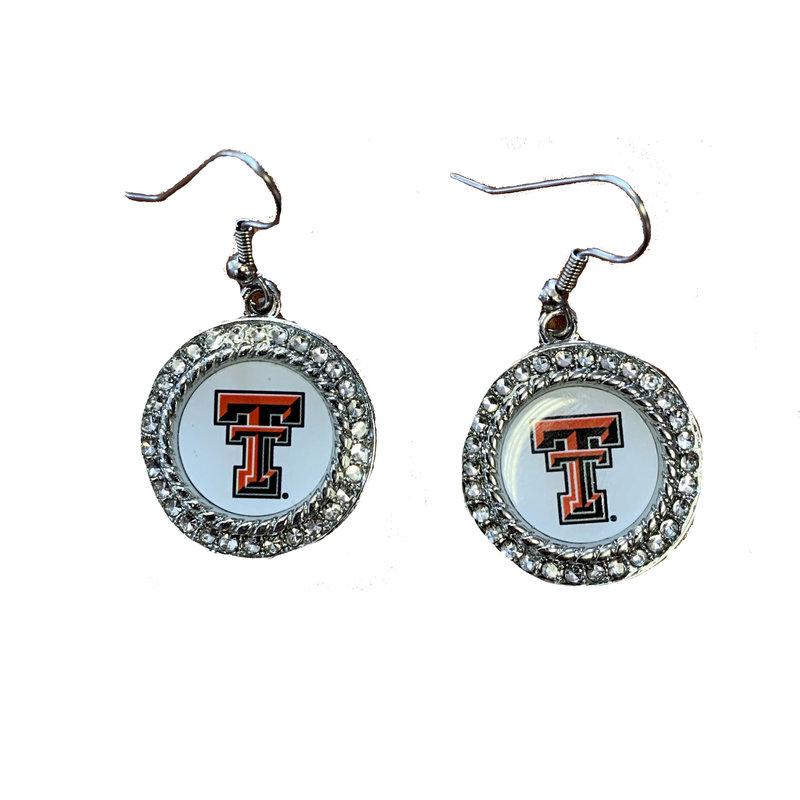 Rhinestone Circle Dangle Earrings