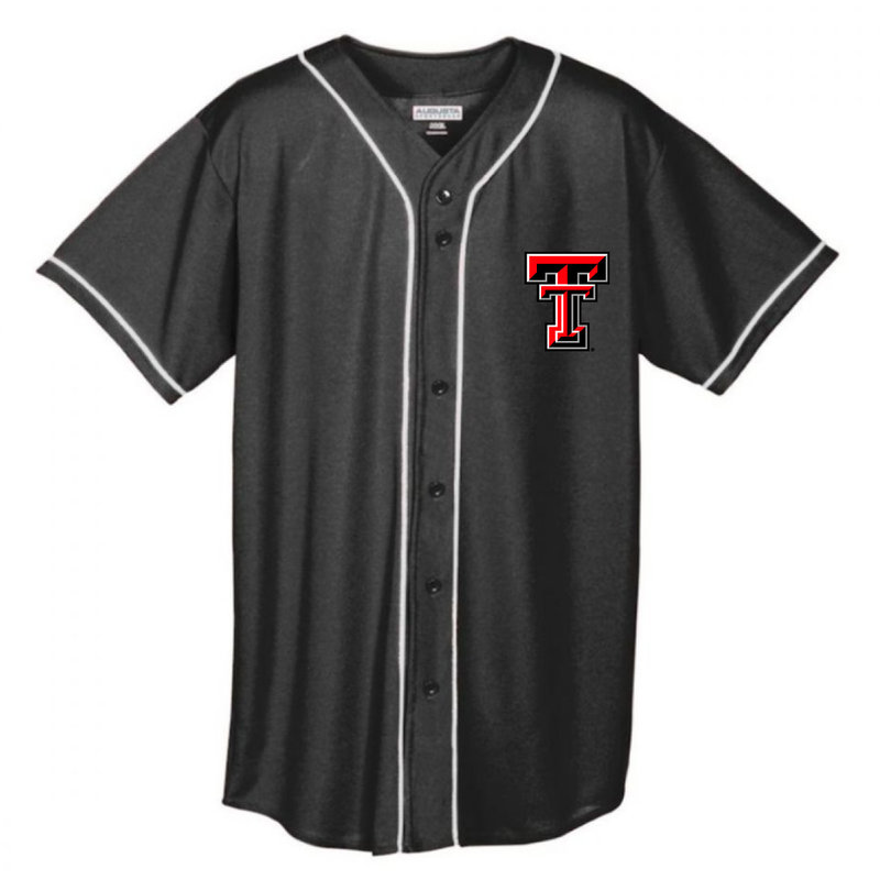Full Button Youth Baseball Jersey with Braid Trim