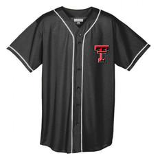 Pinstripe Youth  Full Button Baseball Jersey