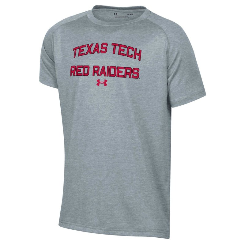 Under Armour Boys Arch Red Raider Short Sleeve Tee