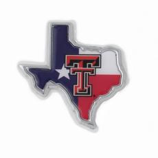 Auto Emblem Double T Texas State Flag
