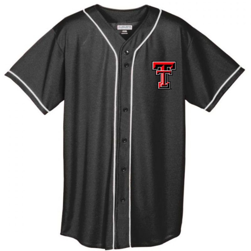 Full Button Baseball Jersey with Braid Trim - More Color Options Available