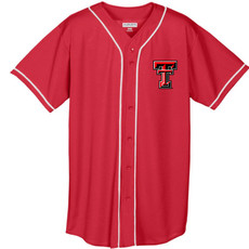 Full Button Baseball Jersey with Braid Trim