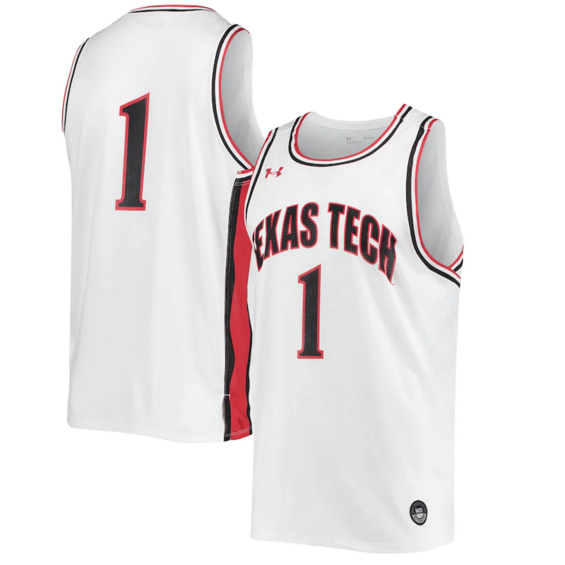 Youth Texas Tech Replica Basketball Jersey # 1